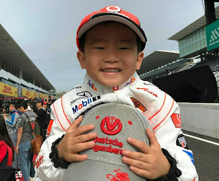 Lewis Hamilton little fan