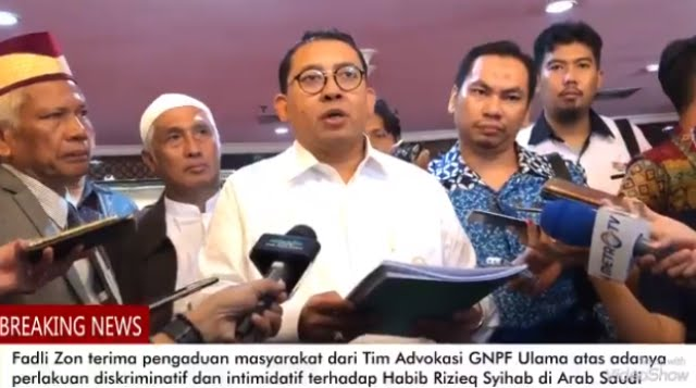 Arab Saudi Cegah HRS ke Malaysia, Fadli Zon Turun Tangan