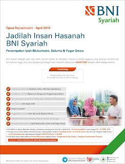 Lowongan Kerja BNI Syariah April 2019 (UPDATED)