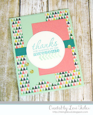 Thanks for Making My Day Awesome card-designed by Lori Tecler/Inking Aloud-stamps from Verve Stamps
