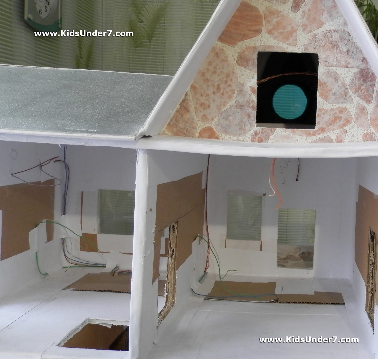 How To Make A Dollhouse Part 1 Printable Coloring Pages Wiring Supplies The For Lighting Of All Rooms We Conducted In Walls