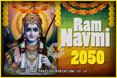 2050 Ram Navami Pooja Date & Time, 2050 Ram Navami Calendar