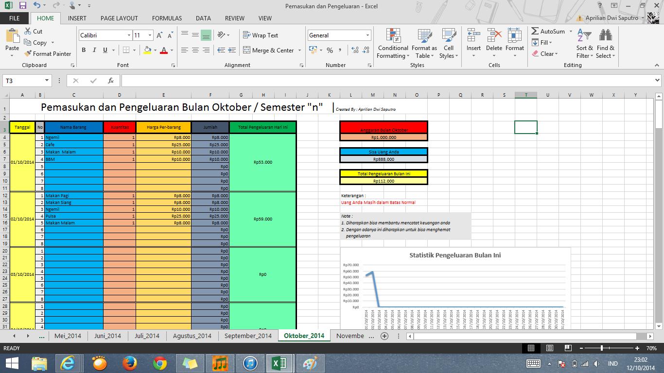 Aprilian S Blog Workbook Untuk Membantu Mengatur Keuangan