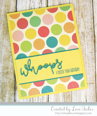 Whoops card-designed by Lori Tecler/Inking Aloud-stamps and dies from Lil' Inker Designs