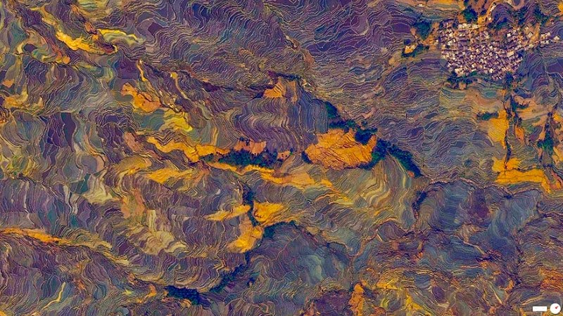 15. Terraced Rice Paddies, Yuanyang County, Yunnan, China - 17 Breathtaking Satellite Photos That Will Change How You See Our World