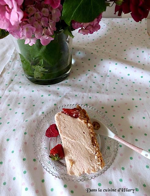 Cheesecake à la fraise façon fraisier