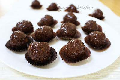 coconut ladoo with homemade chocolate dipping sauce for festivals easy simple dessert with few ingredients yummy sweet