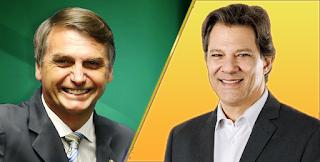 Pesquisa Datafolha para presidente: Bolsonaro, 56%; Haddad, 44%