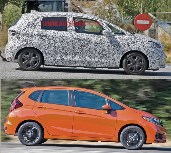 2020 Honda Fit Vs Cur Model