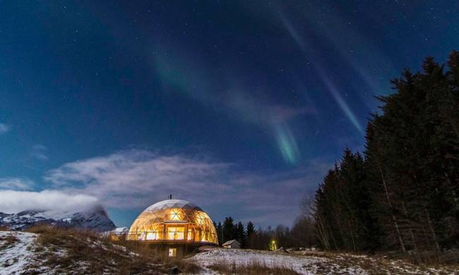 16-Hjertefølgers-Architecture with a Cob House built in a Geodesic Dome in the Arctic Circle