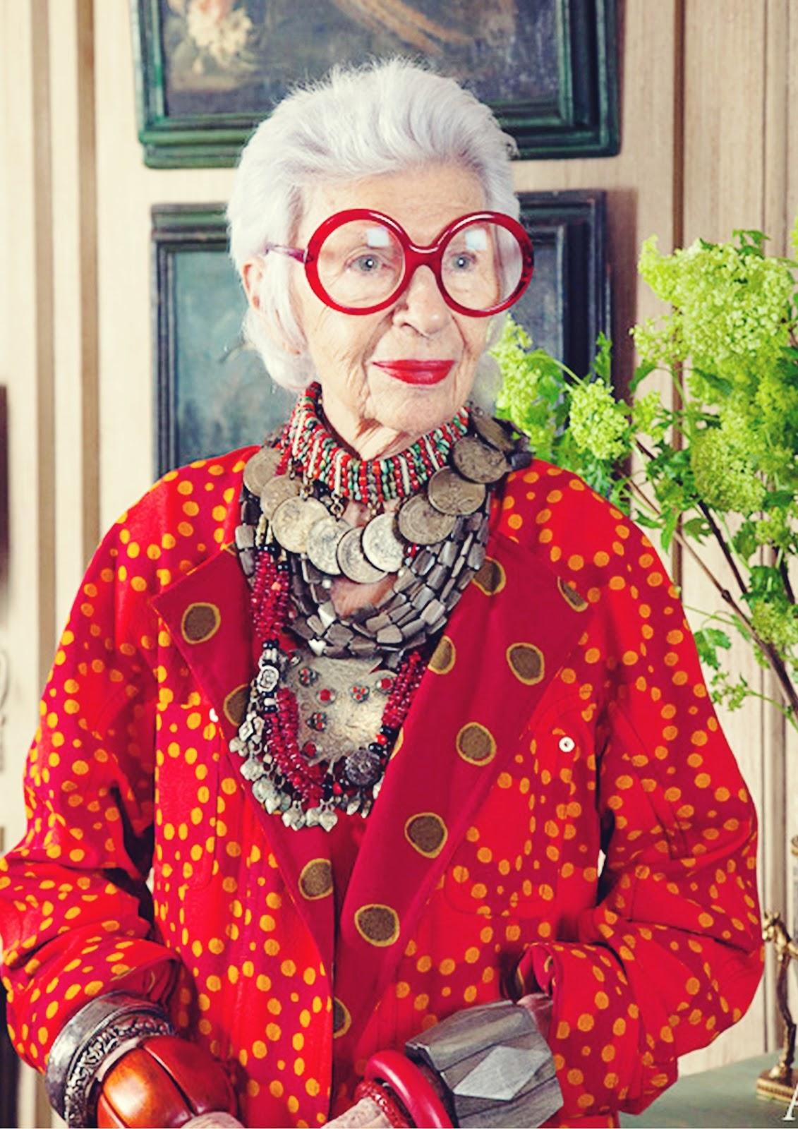 Alter, sehen die toll aus...! Iris Apfel