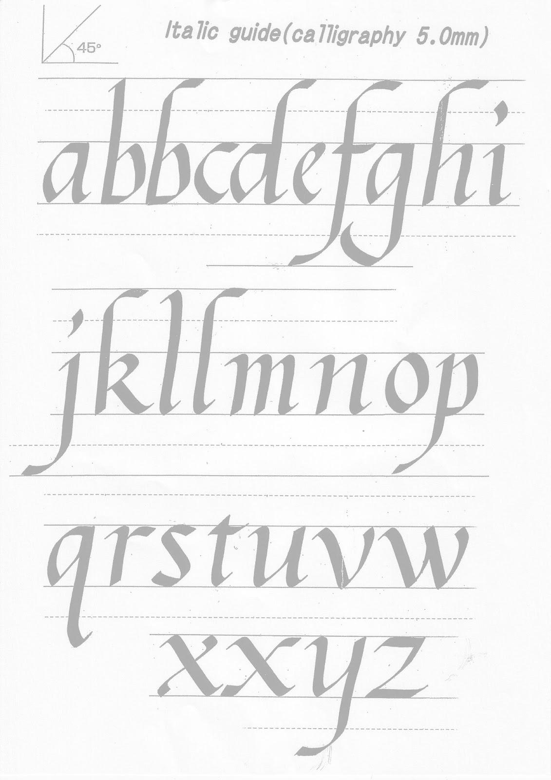 Kuretake Uk Blog Calligraphy Practise Sheets