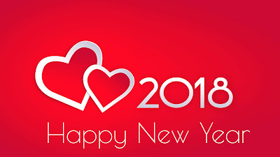 Love Heart And Happy New Year 2018 HD Picture Download