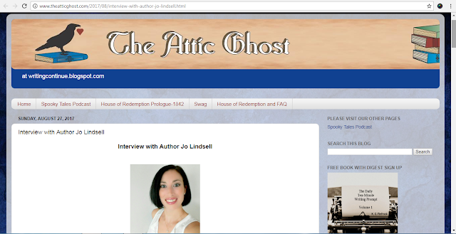 Author Jo Linsdell featured at The Attic Ghost #AuthorInterview #KOSMOS #Books