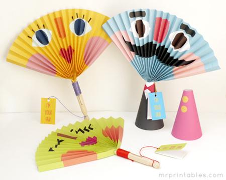 abanicos de cartón o papel, abanicos fuelle, abanico tablillas, abanicos japoneses