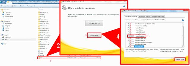 Microsoft Office 2010, Opciones de instalación.