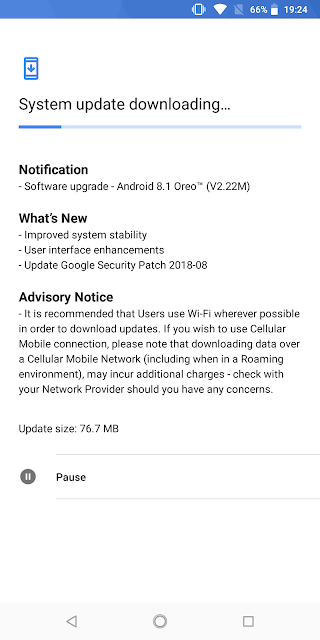 Nokia 7 plus System Update