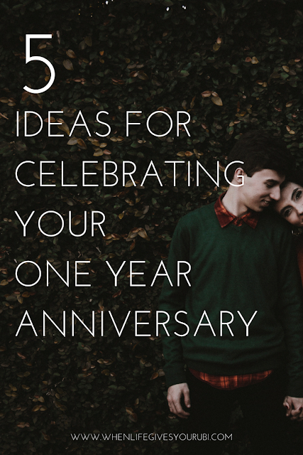 How to celebrate your one year dating anniversary whether you're low on cash or creativity.