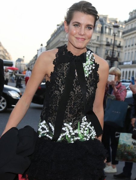 Charlotte Casiraghi wore a dress from Giambattista Valli Haute Couture Fall/Winter 2017-2018 Collection