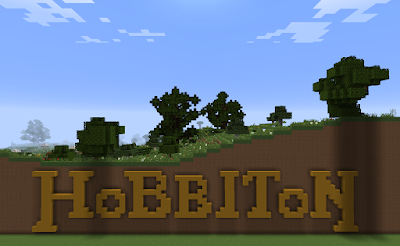 custom minecraft hobbiton build