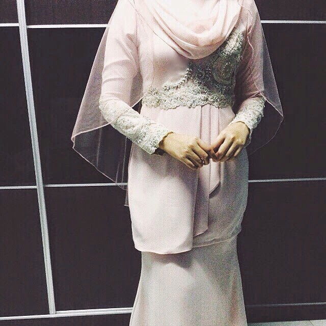baju akad nikah dusty pink 2015