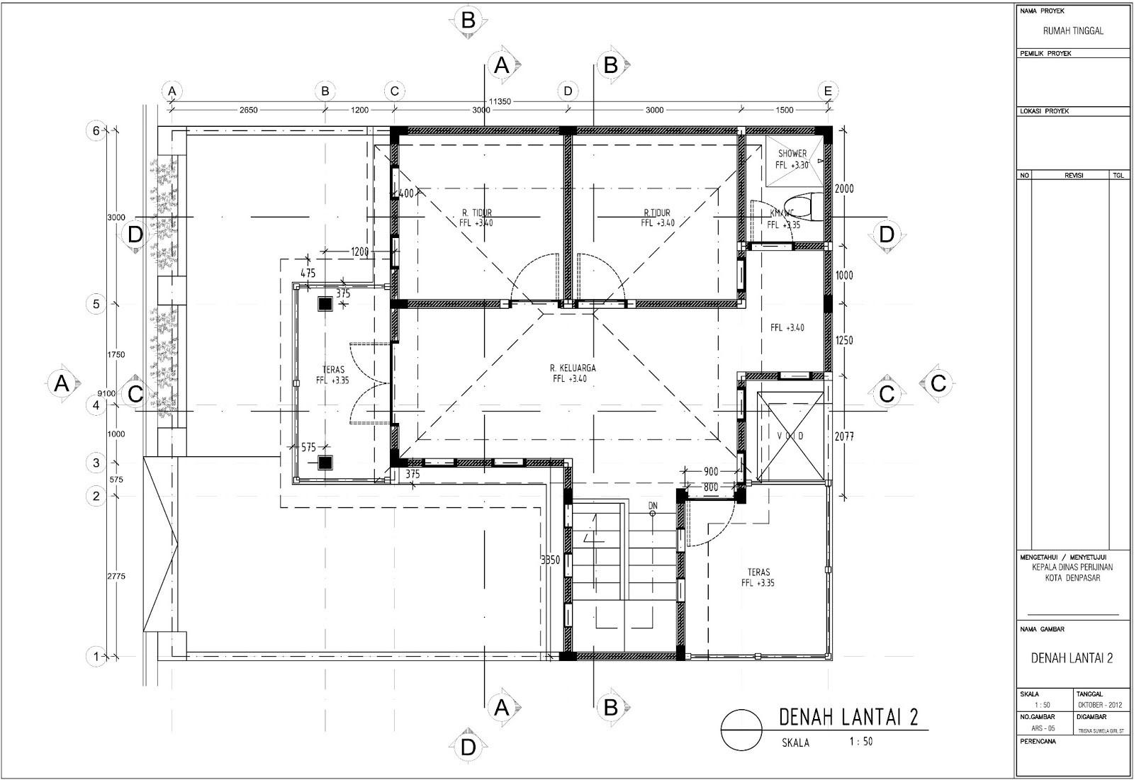 contoh gambar denah rumah untuk imb 2