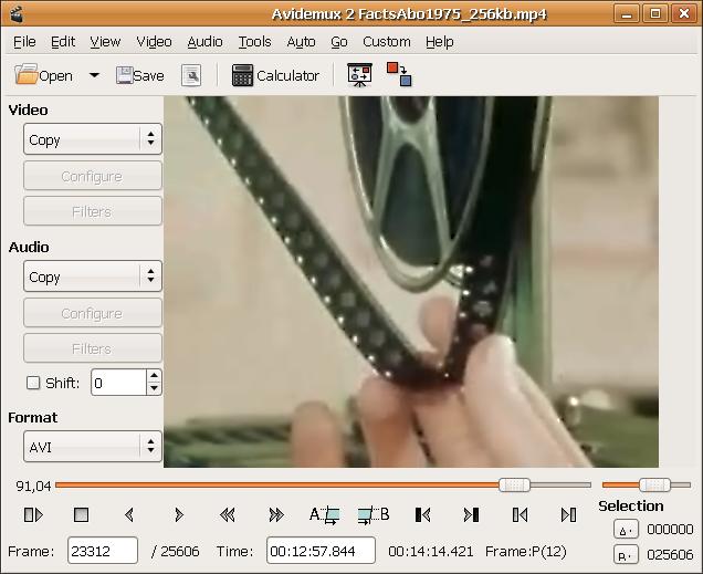 برنامج مجانى شامل لاصلاح ومعالجة وتحويل اى ملف فيديو وجعله يعمل على اى جهاز Avidemux 2-6-5 free