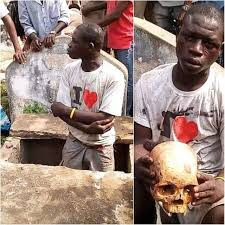 Man Red-handedly Caught Exhuming A Corpse For Money Ritual