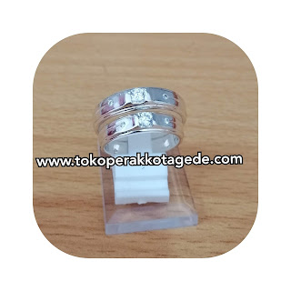 cincin kawin elegan perak emas paladium