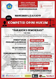"""Kompetisi Opini Hukum """"Paradoks Demokrasi"""""""