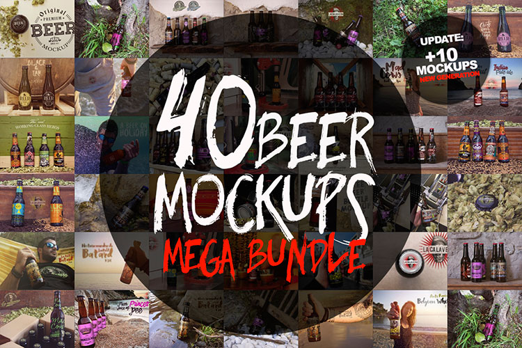 40 Beer Mockups Bundle