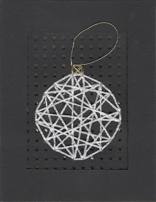 Stitched Bauble Christmas card by welaughindoors