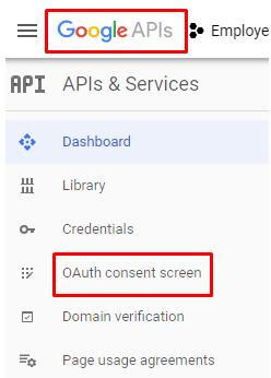 configure consent screen oauth google
