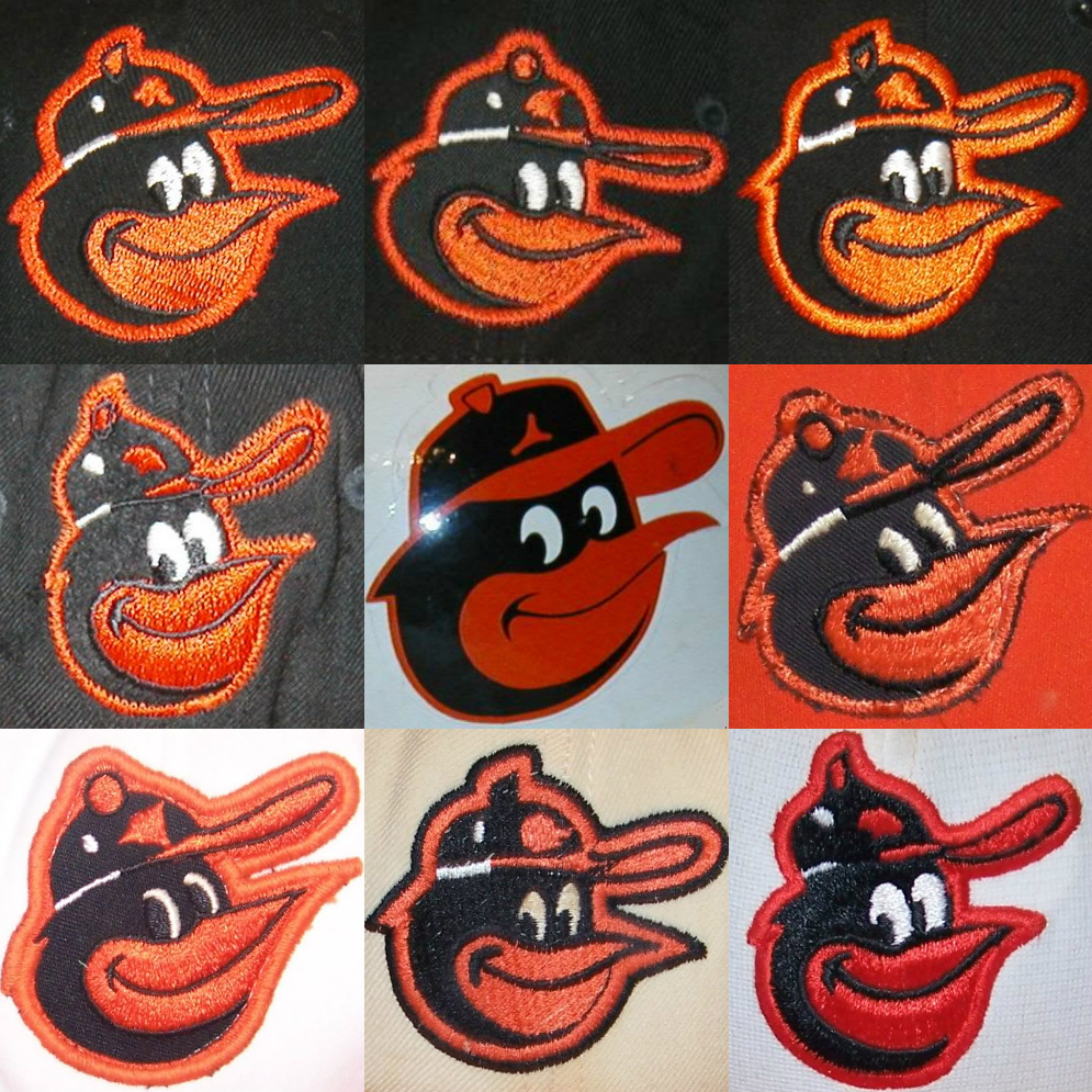 56641578643 The Fleer Sticker Project  The Many Faces of the Orioles Cartoon Bird