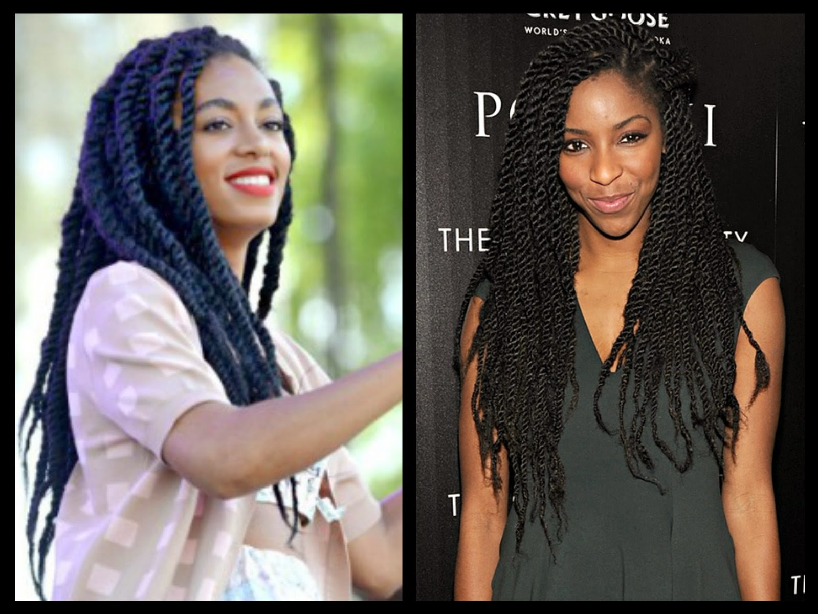 Senegalese Twists Tend To Be Silkier And Thinner Check This Site Out For A Marley Havana Hair Comparison Naturally Curly V