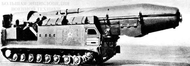 Первый вариант СПУ на шасси объект 815 на парадах 1965-1966 г.г.