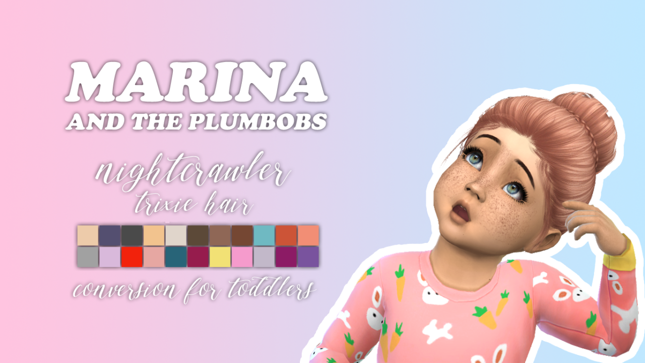 Sims 4 CC s The Best NIGHTCRAWLER TRIXIE HAIR FOR
