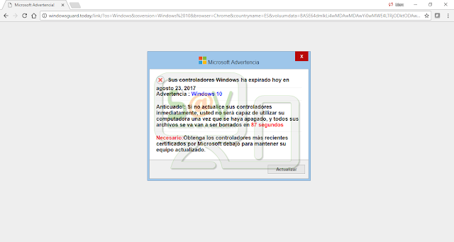 Windowsguard.today (Falso soporte)