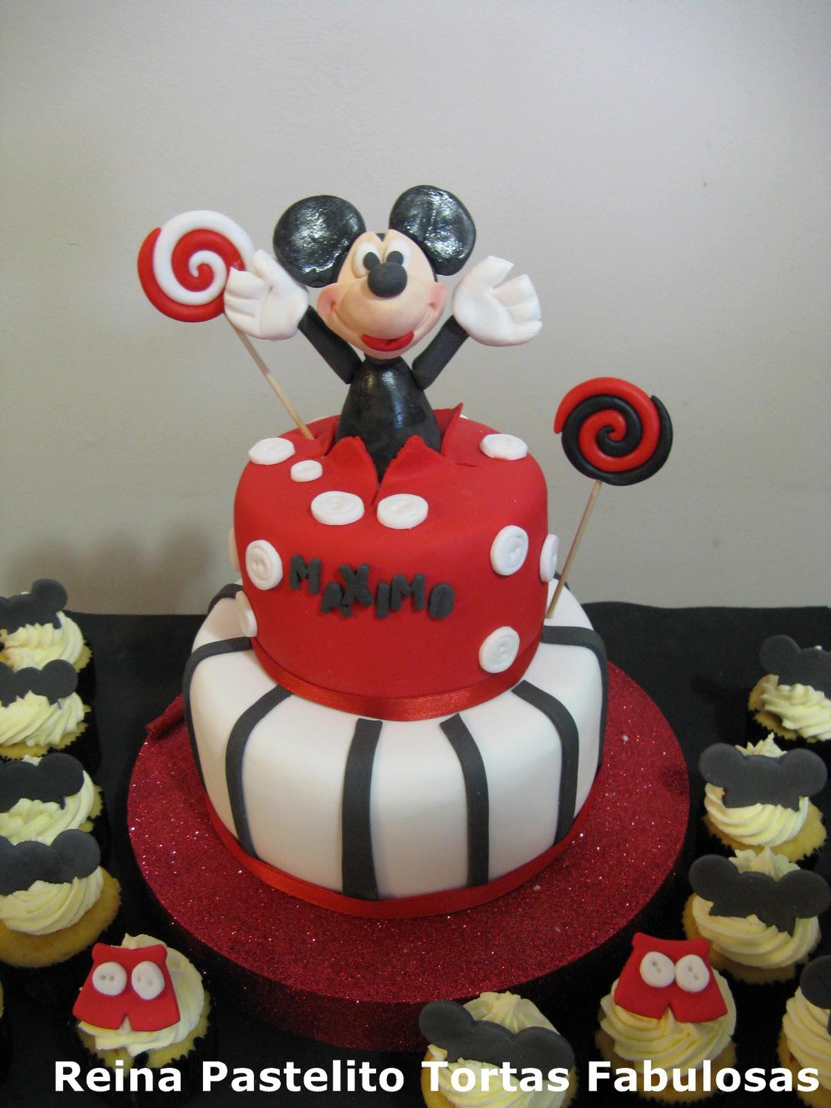Reina Pastelito Cupcakes Tortas Torta Mickey Mouse Y Cupcakes
