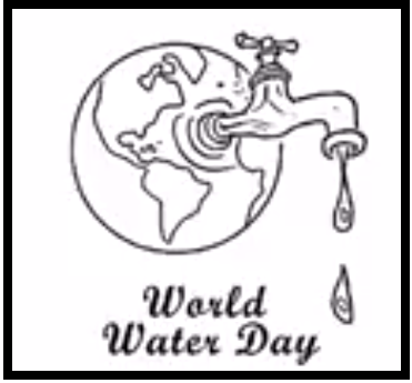 Save Water drawing on world water day