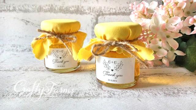 Personalized Honey Jar Door Gift Favour Kuala Lumpur