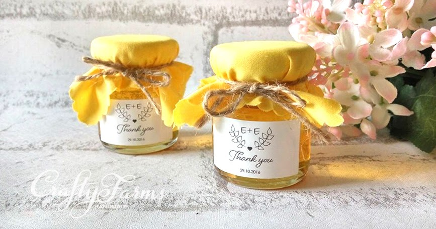 Wedding Card Malaysia Crafty Farms Handmade : Personalized Honey Jar ...