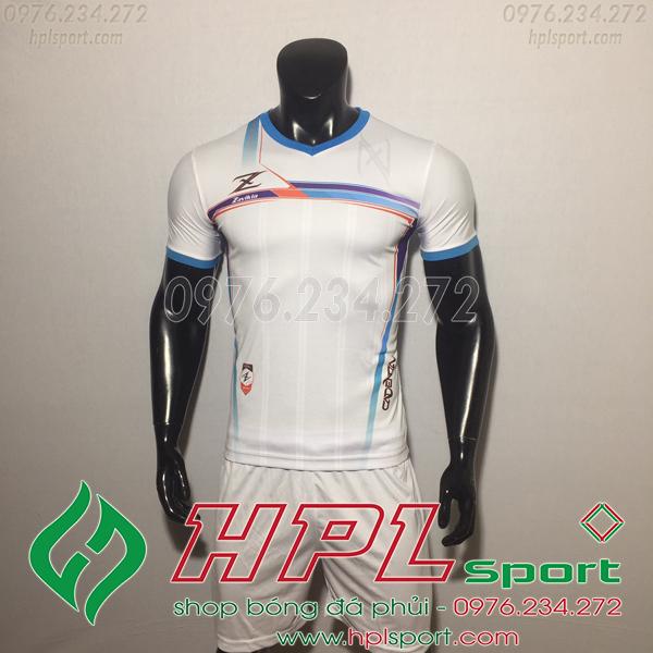 Áo bóng đá ko logo Zavikia HAT Zavi Màu Trắng
