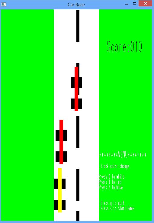 OpenGL Projects: Car Race OpenGL Program
