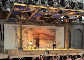 Stephen Aviss as Rodolfo and Christopher Cull as Marcello in La Boheme at Opera Holland Park. Photo Robert Hugill