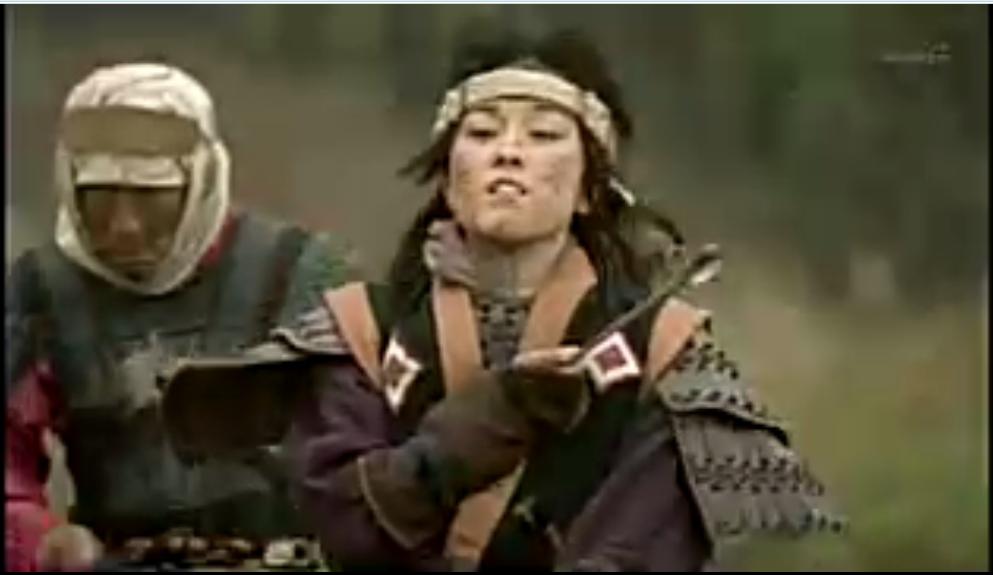 仇の大和の敵将に射抜かれて ああ・・・  古天奈 女戦士 アテルイ伝 伊藤歩 凛々しい 奥に秘め