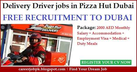 Pizza Delivery Boy jobs in Dubai