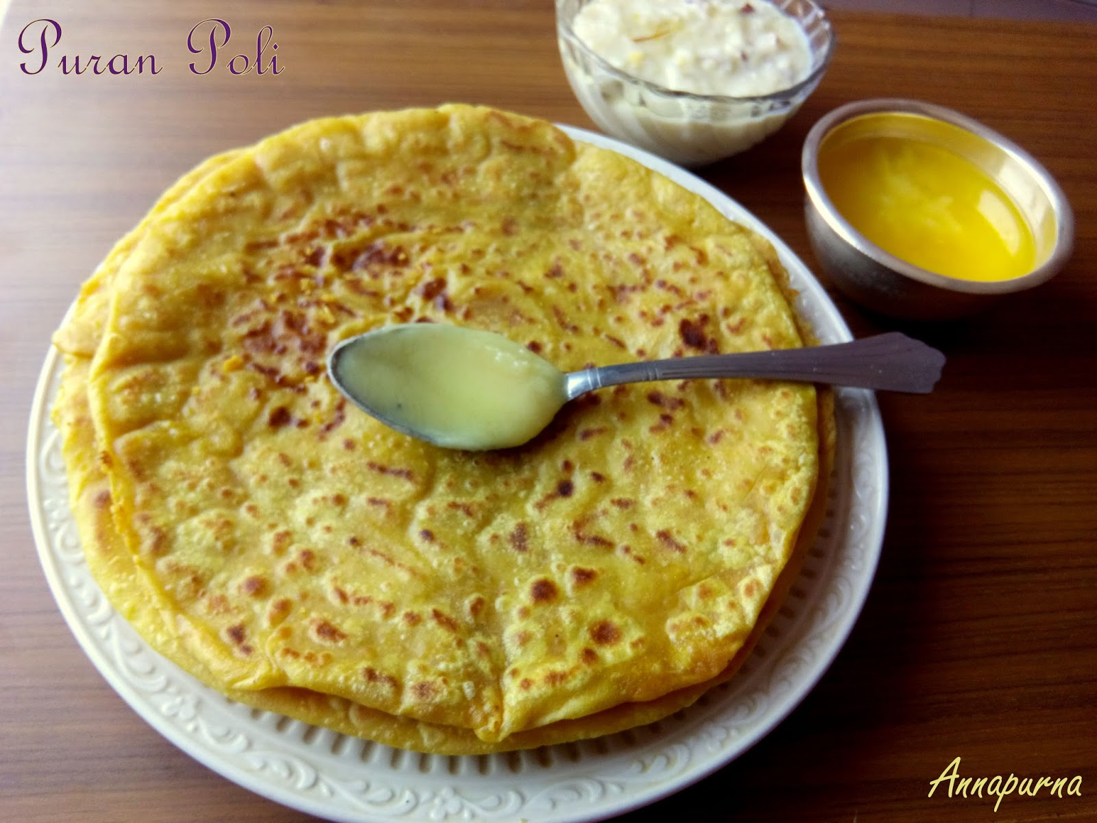 Annapurna puran poli recipe for Annapurna indian cuisine