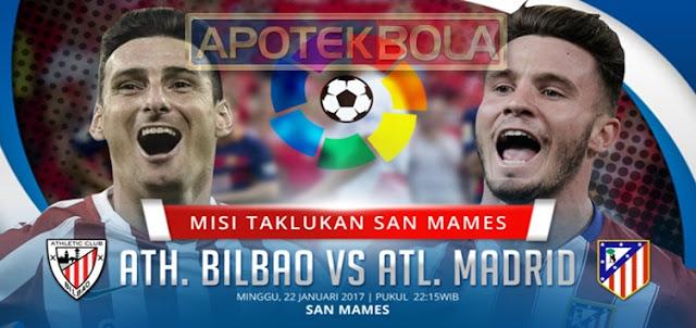 Prediksi Pertandingan Athletic Bilbao vs Atletico Madrid 22 Januari 2017