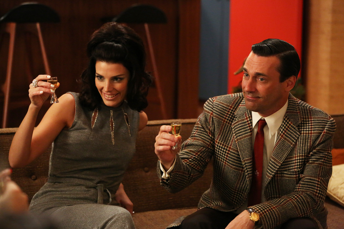 Megan and Don Draper from Mad Men.